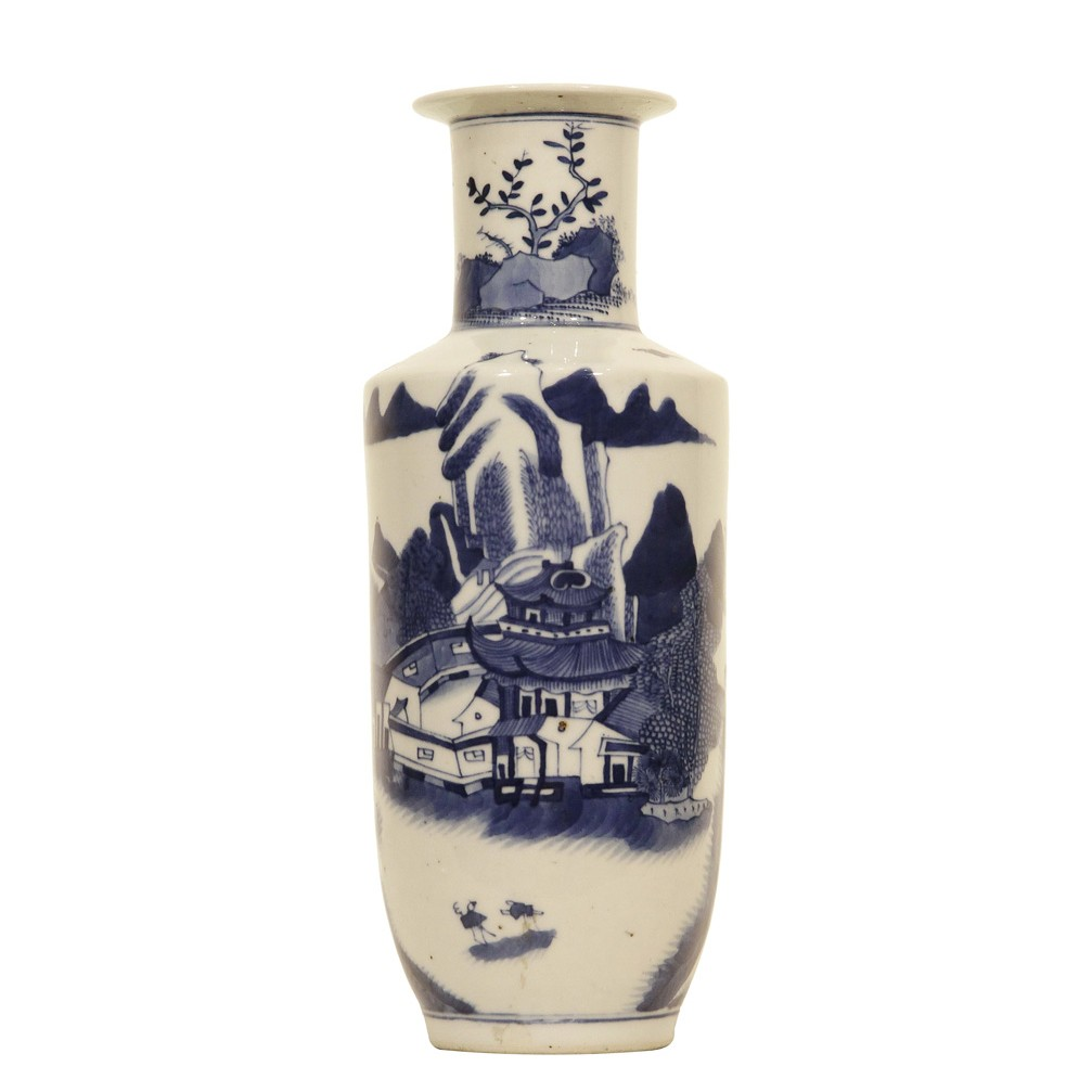 A chinese blue and white porcelain vase with landscape scene reviewsmspy