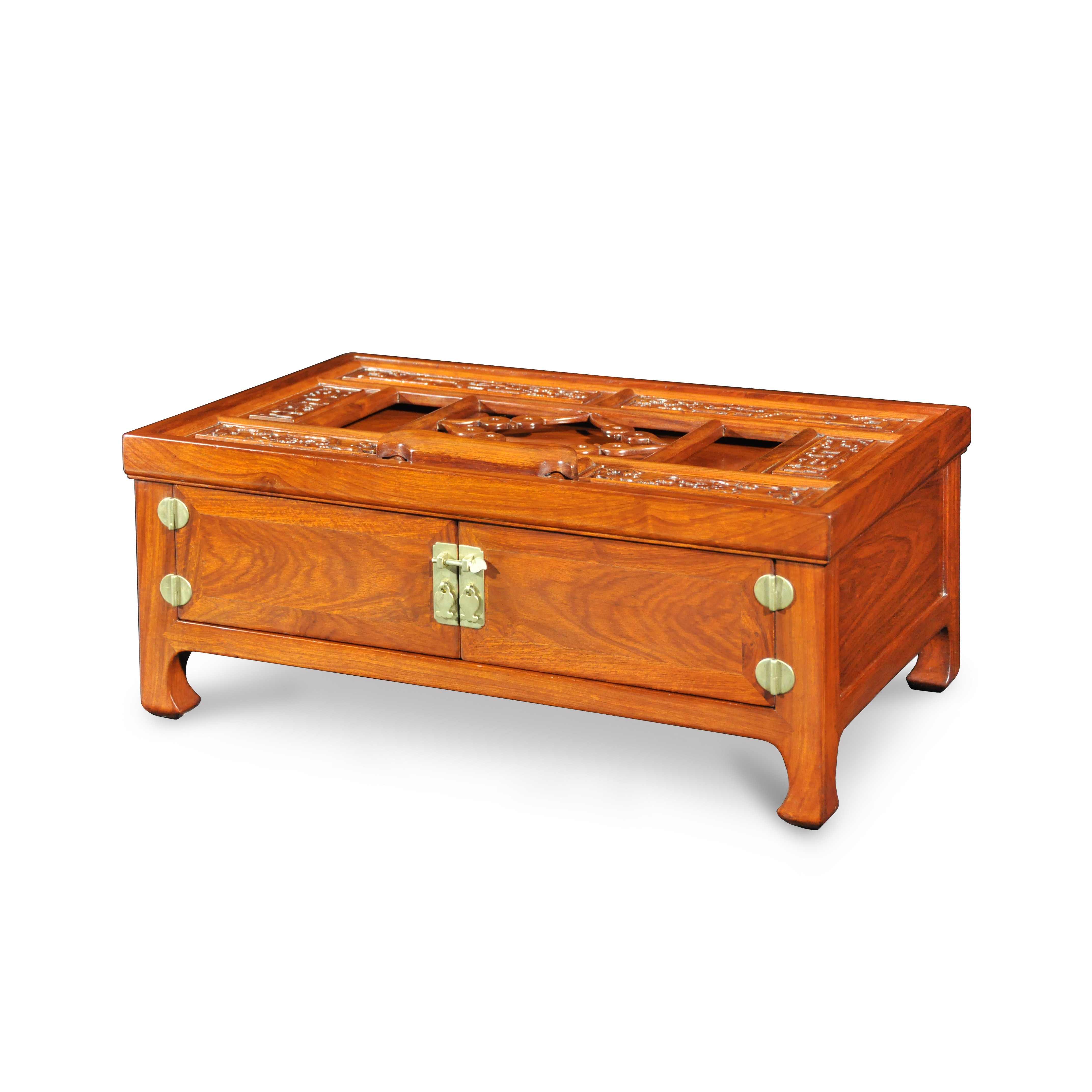 Huanghuali Dressing Case With Folding Mirror Stand